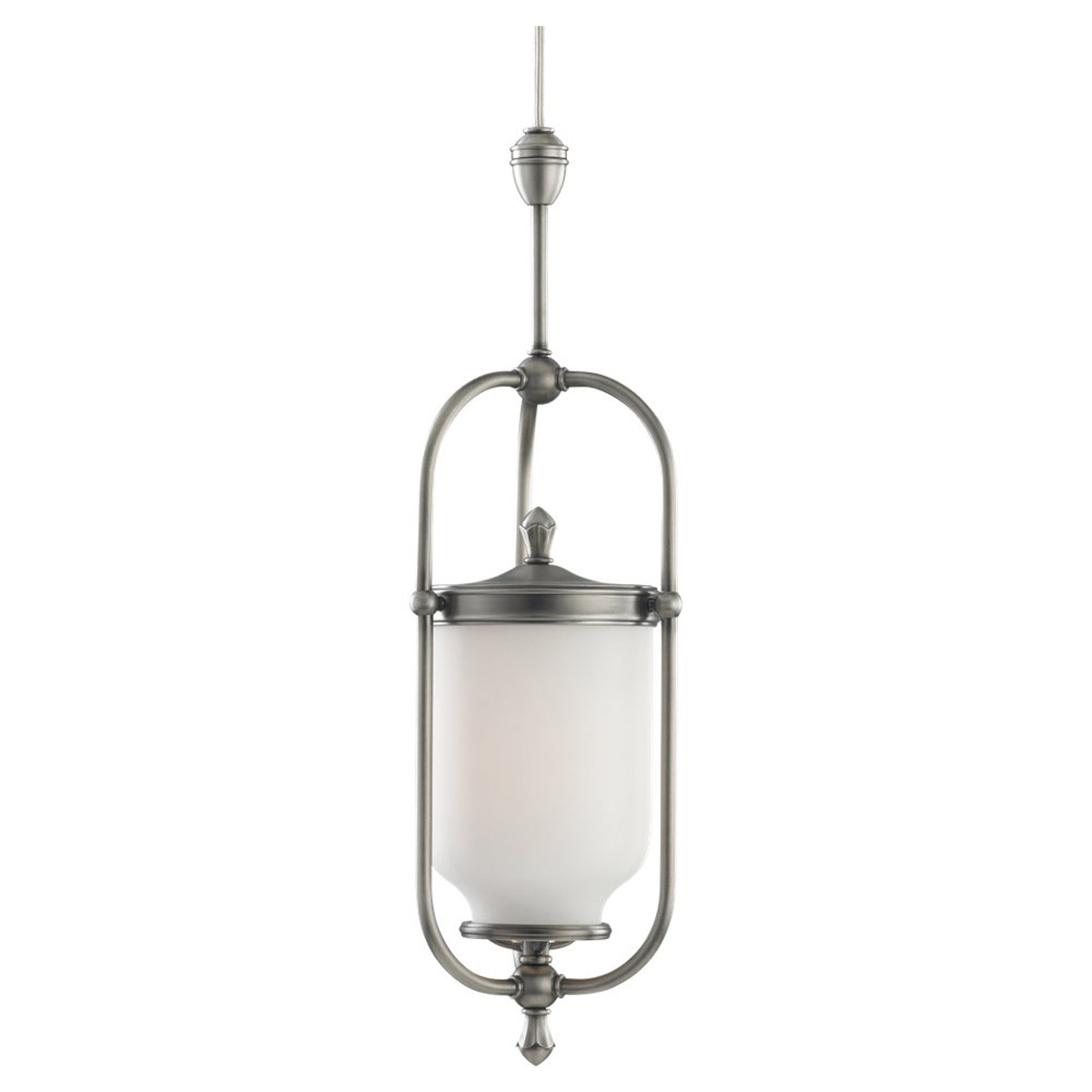 Sea Gull Lighting Wallace 1 + 1 Light Rail / Ceiling Pendant in Antique Brushed Nickel 94566-965