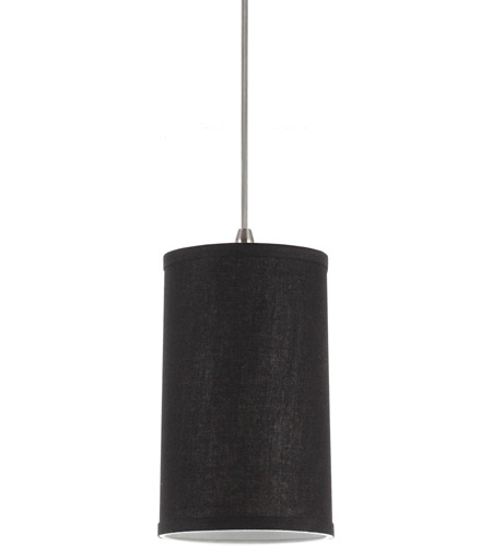 Sea Gull Lighting Jaymes Jaymes Dark Gray Linen Shade Mini-Pendant in Dark Gray Linen 94626-987