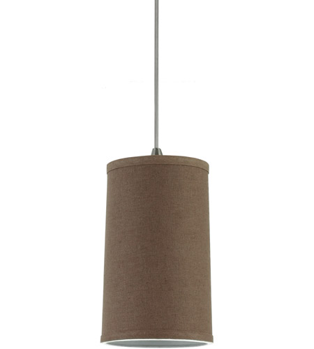 Sea Gull Lighting Jaymes Jaymes Tan Faux Linen Shade Mini-Pendant in Tan Linen 94626-988
