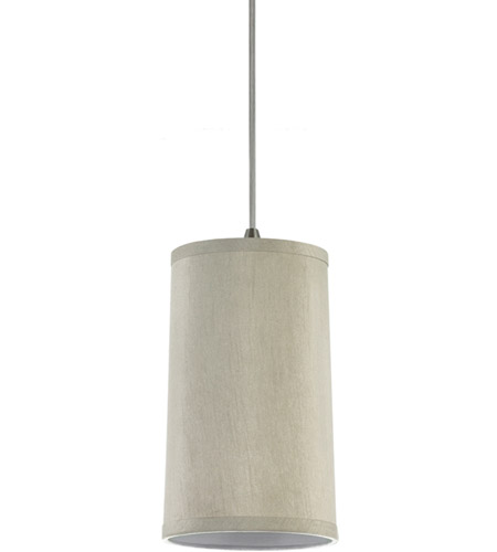 Sea Gull Lighting Jaymes Jaymes Oyster Faux Silk Dupion Shade Mini-Pendant in Oyster Silk Dupion 94626-989
