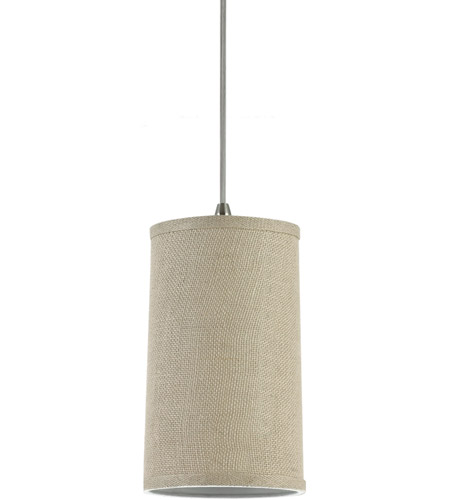 Sea Gull 94626-994 Jaymes 1 Light 6 inch Burlap Mini Pendant Ceiling Light in Burlap Fabric photo