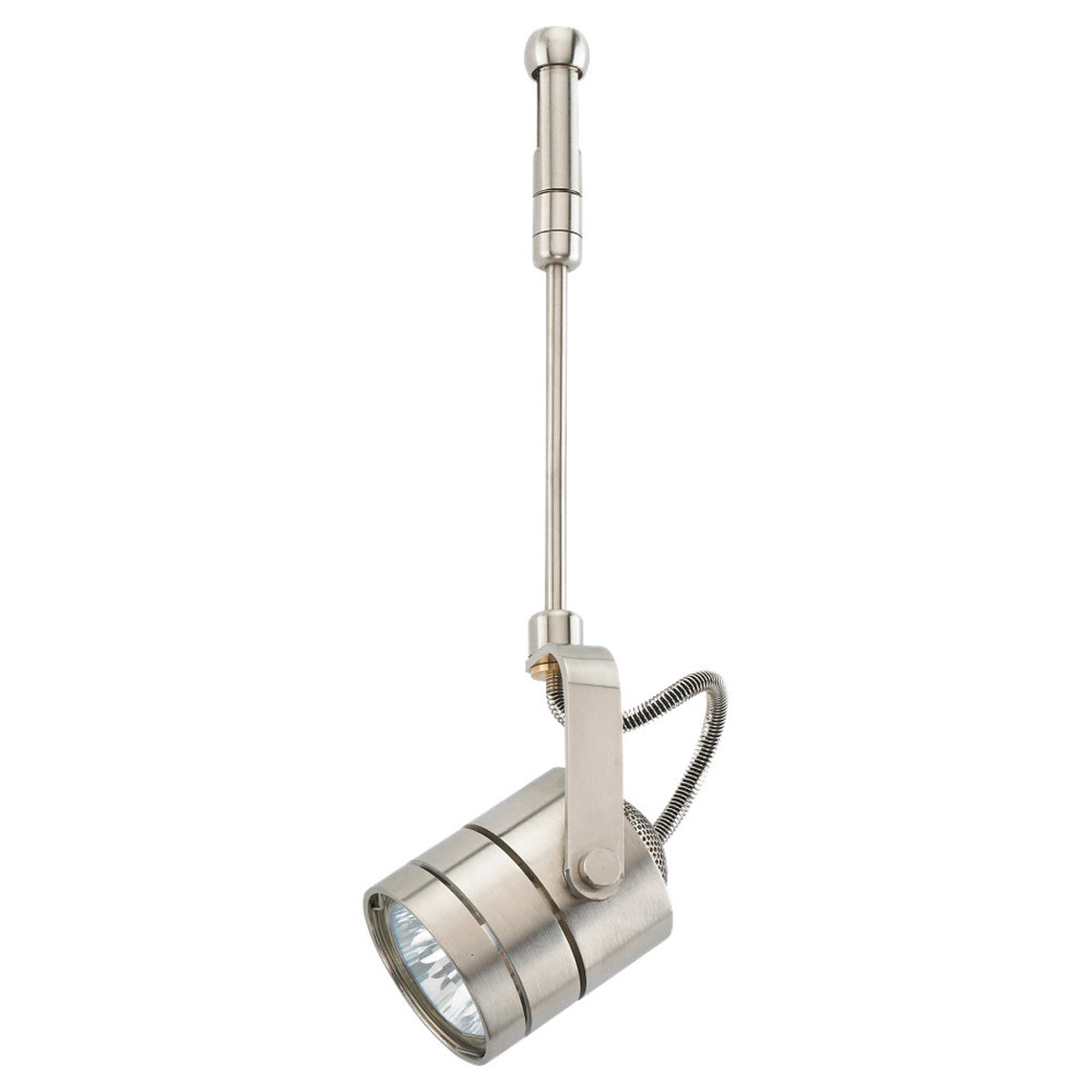 Sea Gull Lighting Ambiance Rtx Directional Roundback 6in Stem with Rail Adapter in Brushed Stainless 95155-98