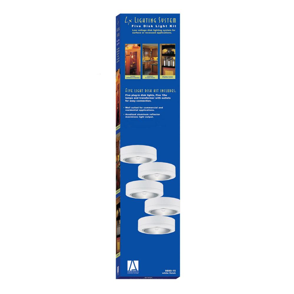 Sea Gull Lighting Ambiance 5 Light Xenon Disk Kit In White 9890 15
