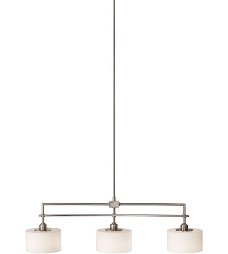 Sea Gull F2402 3bs Sunset Drive 3 Light 40 Inch Brushed Steel Billiard Ceiling In Opal Etched Gl