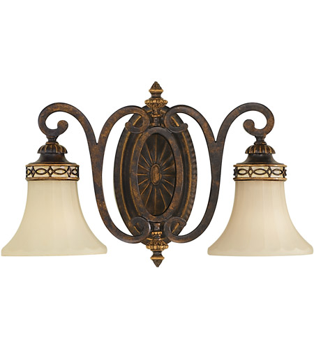 Sea Gull VS11202-WAL Drawing Room 2 Light 18 inch Walnut Vanity Strip Wall Light in 18.25 photo