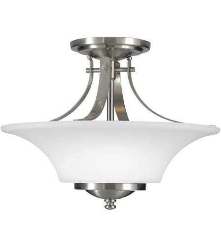 Sea Gull Sf241en3 Bs Barrington 2 Light 15 Inch Brushed Steel Semi Flush Mount Ceiling Light