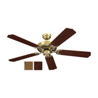 Quality Max 52 inch Polished Brass Ceiling Fan in Standard
