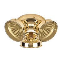 Signature 3 Light Polished Brass Fan Light Kit