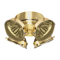 Signature 4 Light Polished Brass Fan Light Kit