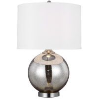 Sea Gull 2201101 Hudson 22 inch 13 watt Chrome Table Lamp Portable Light