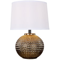 Sea Gull 2202701 Ruby 22 inch 13 watt Antique Brass Table Lamp Portable Light