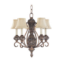 Sea Gull Lighting Highlands 5 Light Chandelier in Regal Bronze 30251-758 photo thumbnail