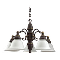 Sea Gull Lighting Canterbury 5 Light Chandelier in Antique Bronze 31051-71 photo thumbnail