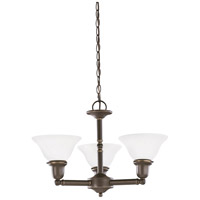 Sussex 3 Light 22 inch Heirloom Bronze Chandelier Ceiling Light