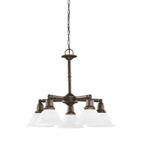 Sea Gull 31061-782 Sussex 5 Light 24 inch Heirloom Bronze Chandelier Ceiling Light in Satin Etched Glass alternative photo thumbnail