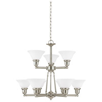 Sussex 9 Light 30 inch Brushed Nickel Chandelier Ceiling Light
