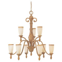 Sea Gull Lighting Fairmont 9 Light Chandelier in Golden Isles 31101-801