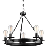Sea Gull Ravenwood Manor 5 Light Chandelier in Stardust 3110205-846
