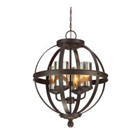Sfera 4 Light 19 inch Autumn Bronze Chandelier Single-Tier Ceiling Light in Fluorescent