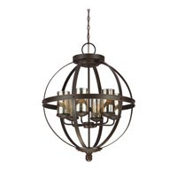 Sfera 6 Light 25 inch Autumn Bronze Chandelier Single-Tier Ceiling Light in Standard