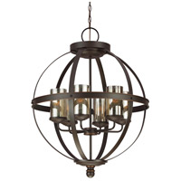 Sea Gull 3110406EN3-715 Sfera 6 Light 25 inch Autumn Bronze Chandelier Ceiling Light