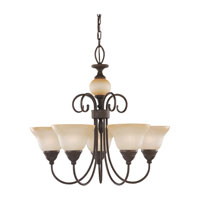 Sea Gull Lighting Montclaire 5 Light Chandelier in Olde Iron 31106-72 photo thumbnail
