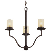Trempealeau 3 Light 21 inch Roman Bronze Chandelier Ceiling Light