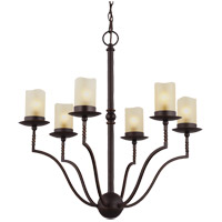 Trempealeau 6 Light 21 inch Roman Bronze Chandelier Ceiling Light