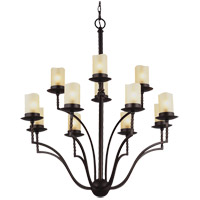 Trempealeau 12 Light 31 inch Roman Bronze Chandelier Ceiling Light