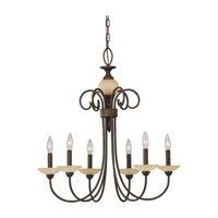 Sea Gull Lighting Montclaire 6 Light Chandelier in Olde Iron 31107-72 photo thumbnail
