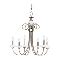 Sea Gull Lighting Montclaire 6 Light Chandelier in Antique Brushed Nickel 31107-965 photo thumbnail