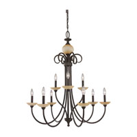 Sea Gull Lighting Montclaire 9 Light Chandelier in Olde Iron 31108-72 photo thumbnail