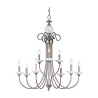 Sea Gull Lighting Montclaire 9 Light Chandelier in Antique Brushed Nickel 31108-965 photo thumbnail