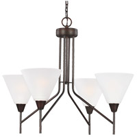 Sea Gull Ashburne 4 Light Chandelier in Burnt Sienna 3111204BLE-710