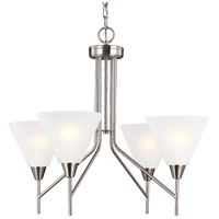 Ashburne 4 Light 25 inch Brushed Nickel Chandelier Ceiling Light in Fluorescent