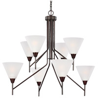 Ashburne 8 Light 34 inch Burnt Sienna Chandelier Ceiling Light in Fluorescent