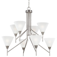 Sea Gull Ashburne 8 Light Chandelier in Brushed Nickel 3111208-962