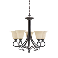 Del Prato 5 Light 27 inch Chestnut Bronze Chandelier Ceiling Light
