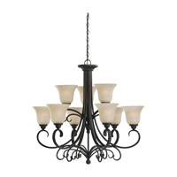 Del Prato 9 Light 34 inch Chestnut Bronze Chandelier Ceiling Light