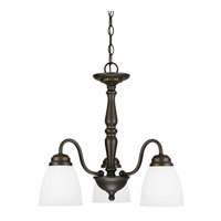 Sea Gull Northbrook 3 Light Chandelier Single-Tier in Roman Bronze 3112403BLE-191