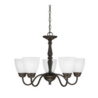 Sea Gull Northbrook 5 Light Chandelier Single-Tier in Roman Bronze 3112405-191