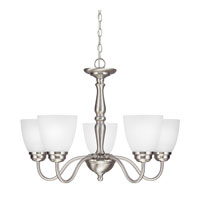 Sea Gull Northbrook 5 Light Chandelier Single-Tier in Brushed Nickel 3112405-962