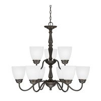 Sea Gull Northbrook 9 Light Chandelier Multi-Tier in Roman Bronze 3112409-191