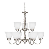 Sea Gull Northbrook 9 Light Chandelier Multi-Tier in Brushed Nickel 3112409-962