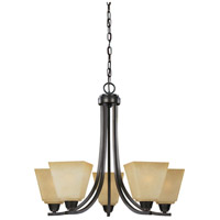 Sea Gull 3113005EN3-845 Parkfield 5 Light 25 inch Flemish Bronze Chandelier Ceiling Light