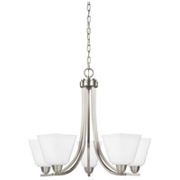 Sea Gull 3113005EN3-962 Parkfield 5 Light 25 inch Brushed Nickel Chandelier Ceiling Light