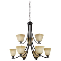 Parkfield 9 Light 34 inch Flemish Bronze Chandelier Ceiling Light
