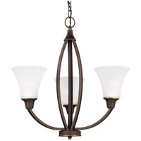 Metcalf 3 Light 22 inch Autumn Bronze Chandelier Ceiling Light in Standard