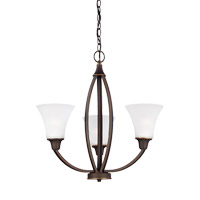 Metcalf 3 Light 22 inch Autumn Bronze Chandelier Ceiling Light