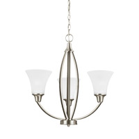 Metcalf 3 Light 22 inch Brushed Nickel Chandelier Ceiling Light